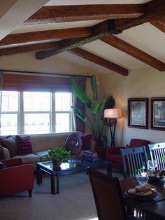 (Family Room) beam ceilings | False Beam Ceilings