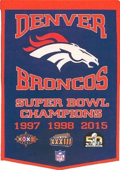 Denver #Denver Superbowl 50 Champ And 3-time Superbowl Champion Fridge Magnet from $1.99