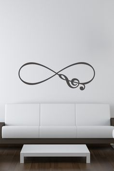 Decals That Dazzle - Musical Note Infinity Symbol Vinyl Wall Decal, $15.00