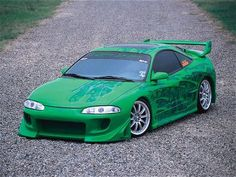 1996 Mitsubishi Eclipse GS - I had one of these in high school Almost an identical match, except mine had a blacked-out roof.