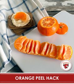 Here's a life hack that'll literally help get the juices flowing. Remove the top and bottom of an orange, slice the rind once, pull and enjoy. Healthy Snacks, Healthy Eating, Healthy Recipes, Good Food, Yummy Food, Food Hacks, Food Tips, Baking Tips, Food For Thought