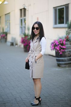The most versatile trench dress ever