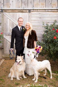 Rachel & Ryan had Joey & Wolfie to be apart of their wedding day, it was a joy for D'Plazzo Wedding Planners to be apart of this wedding! www.dplazzo.com