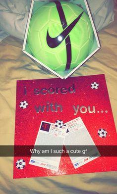 Cute idea for boyfriend! #boyfriend #cute #idea #diy #artsandcrafts #soccer #girlfriend #love #couples #gift #birthday #anniversary