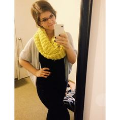 I love big knitted scarves  #selfie #fall #ootd #scarf #ootn #smile #big #yellow #knitted #knit #happy #love - @Whitney Marie- #webstagram