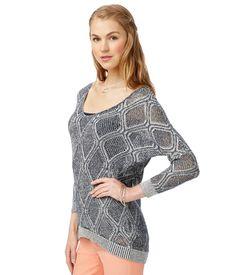 Sheer Diamond Stitch Sweater from Aeropostale
