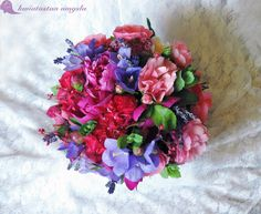Summer, romantic wedding bouquet.