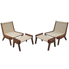 Pair of Chairs and Ottoman Attributed to Clara Porset   From a unique collection of antique and modern lounge chairs at http://www.1stdibs.com/furniture/seating/lounge-chairs/