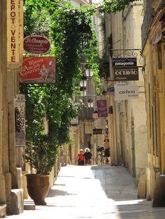Rue de l'Ancien Courrier, Montpellier - France I love Montpellier -- My husband was born in Montpellier!!