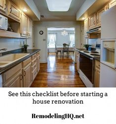 Use this home remodeling checklist as the starting point for your project. Read before you get started. Kitchen Cabinet Storage, Kitchen Pantry, Kitchen Cabinets, Kitchen Appliances, Kitchen Ideas, Contemporary Kitchen Design, Pantry Organization, Organizing Ideas, Organizer