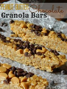 No Bake Peanut Butter Chocolate Granola Bars   www.sweetasacookie.com #Granola #Peanutbutter #chocolate