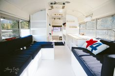 School bus conversion. Amazing transformation!! Fits a family of 6 who is traveling the country. 12,000 miles in 6 months!