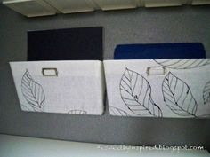 Be Sweetly Inspired: Fabric covered wall mounted file holders
