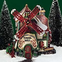 North Pole Department 56 Northern Lights Tinsel Mill