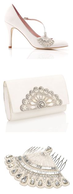 Art Deco Inspired Bridal Shoes Accessories from Emmy London