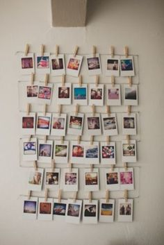 Deco avec des photos id es et inspiration inspiration - Mur photo polaroid ...