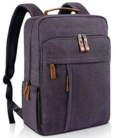 0640913dc85a Veegul Stylish Doctor Style Canvas School Backpack Travel Bag for Men Women  24 Liters Dual Pockets x Black VG     Check this awesome pro…