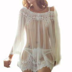 Babydoll Victorias Secret Schwarz Gr S 36 Transparent Nachthemd Dessous Practical Neu