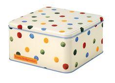 polka dots tin box