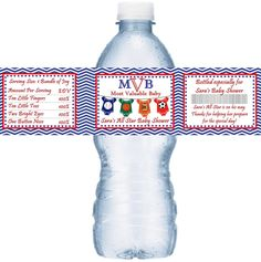 All Star Sport Themed Baby Shower Personalized Water Bottle Labels from Favors Today