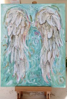 Angel Wings Painting Custom order your own special set of wings. 11 x 14 inch… Angel Wings Painting Custom order your own special set of wings. 11 x 14 inches Angel Wings Painting, Angel Wings Art, Angel Art, Angel Paintings, Paper Angel, Paint And Sip, Pics Art, Medium Art, Painting Inspiration