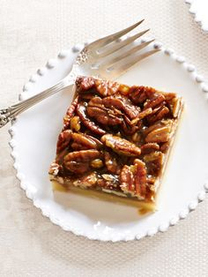 Pecan Squares via Ina Garten's Easiest-Ever Thanksgiving--made these before and they are incredibly delicious! I like them dipped in chocolate :)