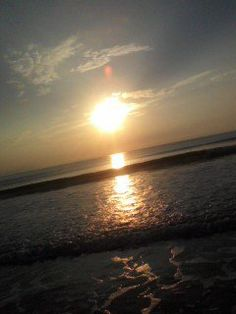 Sunset at Daytona Beach Florida. beach/ocean/love