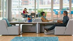 Turnstone Campfire Slim Table Modern Office Table - Steelcase