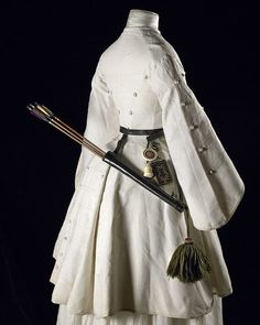 """roses–and–rue:  """" 1850s-1860s archery outfit.  Look at the cut little pocket diary hanging from her belt!  """""""