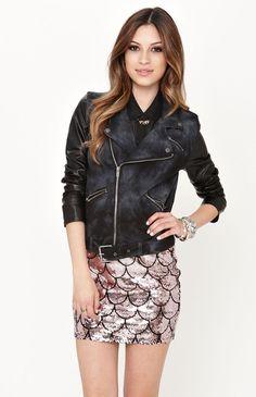Lue Knit Moto Faux Leather Jacket Markdown $49.99 Promotion $39.99 pacsun.com