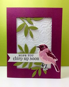 Color Layering Bird: Hero arts, by beesmom at split coast … Bird Cards, Butterfly Cards, Hero Arts Cards, Altenew Cards, Christian Cards, Window Cards, Get Well Cards, Animal Cards, Card Tutorials