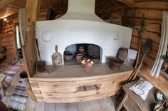 Interior of russian house with traditional oven ...  Architecture And Buildings, Russian Culture, architecture, baking, brick, conventional, domestic kitchen, domestic room, heat, history, home interior, house, indoors, izba, log, no people, objects/equipment, old, old-fashioned, oven, rural scene, russia, stove, traditional culture, wood
