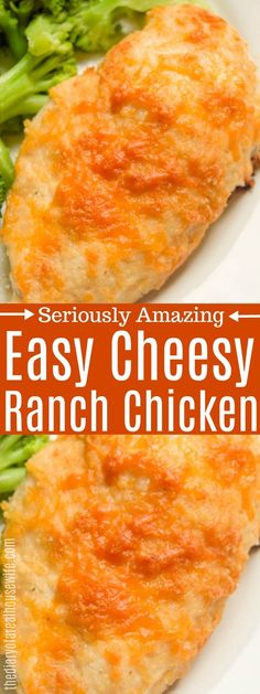 Coated in ranch dressing and then breaded in cheese even your pickiest easters will love this Cheesy Ranch Chicken. Try it out for dinner tonight. Bbq Chicken Pizza, Ranch Chicken Recipes, Easy Chicken Pot Pie, Crockpot Ranch Chicken, Breaded Chicken Recipes, Ranch Dressing Chicken, Ranch Dressing Recipe, Ranch Recipe, Recipes
