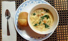 Creamy Tortellini soup  Save the Day Italian Seasoning  Original recipe from http://cafedelites.com/2016/11/27/slow-cooker-creamy-tortellini-soup/