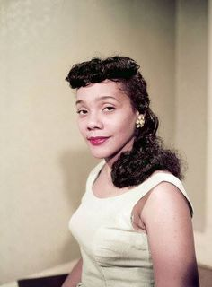 Coretta Scott King, photographed by Moneta Sleet for Ebony in 1958. Mrs. King was a graduate of Antioch College in Yellow Springs, Ohio (B.A. Music Education, 1951) and the New England Conservatory of Music in Boston (Mus.B. in voice, 1954).