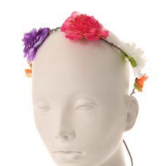 Bright Breaded Flower Hair Garland