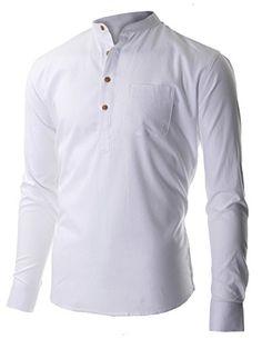 FLATSEVEN Men's Casual Mandarin Collar Popover Long Sleeve Henley Shirt (SH216) White, M FLATSEVEN http://www.amazon.com/dp/B00P51XSBM/ref=cm_sw_r_pi_dp_waWvub18D2RNY