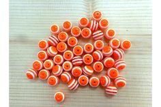 Χάντρα Νο10 27314o  Χάντρες πορτοκαλί με λευκή ρίγα.Μέγεθος: 10mmΣυσκευασία 50 τεμαχίων. Triangle, Stud Earrings, Buttons, Beads, Jewelry, Beading, Jewlery, Bijoux, Studs