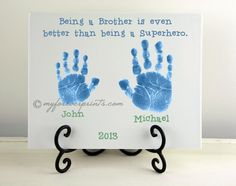 CERAMIC PLAQUE  Brothers Handprint by ForeverPrintsPottery on Etsy, $45.00