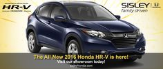 The All New Honda HR-V Is Here! Visit our showroom today!