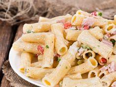Pâtes au jambon et tomates séchées Pasta Recipes, Pasta Salad, Quinoa, Deserts, Good Food, Lunch, Dinner, Cooking, Ethnic Recipes