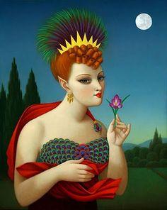 """Phoenix Moon (2009) - 16"""" x 20"""" by Colette Calascione"""