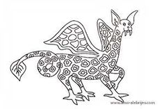 dibujos para dibujar dragon marino