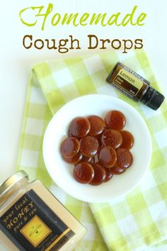 Homemade Cough Drop Candys with Simple Ingredients. So incredibly simple to make at home! Don't have any cough drops on hand? or hate using the store-bought ones with weird ingredients? Try this simple homemade cough drop candies, made with all natural ingredients like honey, lemon and essential oils.