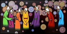 Leland Bell my favourite artiste! love them beaded rosetttes. Indigenous Education, Indigenous Art, Native Art, Native American Art, My Christmas Wish List, Eagle Feathers, Medicine Wheel, Colorful Paintings, Canadian Artists
