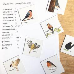 """Die kleinen Dinge on Instagram: """"#stundederwintervögel20 Heute ist der letzte Tag der Wintervogel Zählung von @birdlife_austria ❄️ Wir haben gerade eine Stunde lang vom…"""" Winter, Illustration, Cards, Instagram, The Last Day, Little Ones, Little Things, Do Your Thing, Winter Time"""