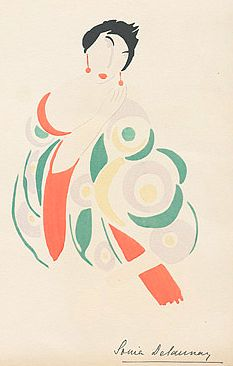 Fashion illustration by Sonia Delaunay, 1923.