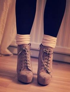 Cute for Fall... I have a very similar pair of boots, but I never thought of wearing socks with them...  Hmm...