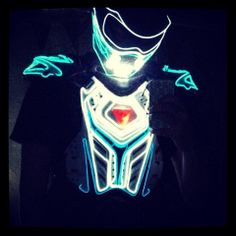 Light Up Tron Costume. Tron Costume, Led Costume, Costumes, Awesome Stuff, Light Up, Wire, Seasons, Clothing, Outfits