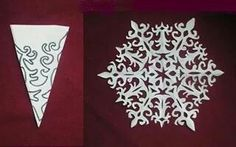 12 Gorgeous Paper Snowflake Designs, perfect for celebrating When It Snows (Richard Collingridge) Snowflakes Diy Template, Snowflake Pattern, Paper Snowflake Designs, Paper Snowflakes, Winter Christmas, All Things Christmas, Holiday Crafts, Holiday Fun, Origami